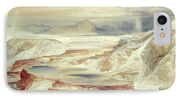 Hot Springs Of Gardiner's River, Yellowstone IPhone Case by Thomas Moran