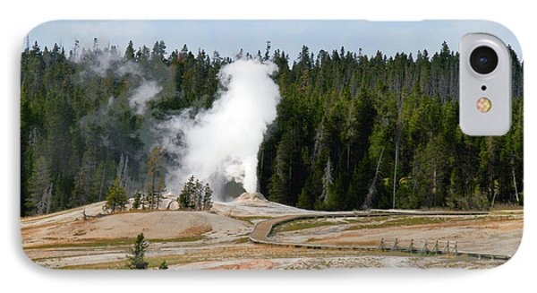 Hot Steam Dog Yellowstone National Park Wy Phone Case by Christine Till