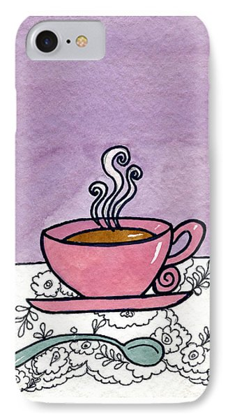 Hot Tea IPhone Case by Norma Appleton