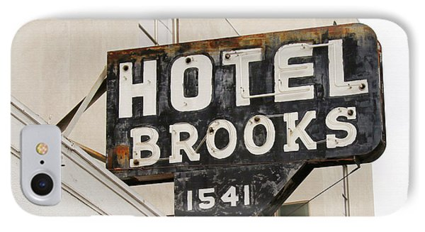 Hotel Brooks IPhone Case by Art Block Collections