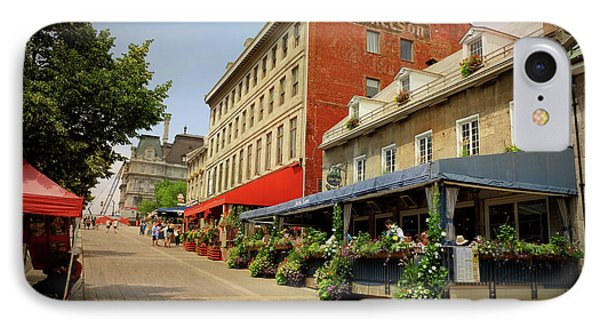 Hotel Nelson - Place Jacques Cartier IPhone Case by Maria Angelica Maira