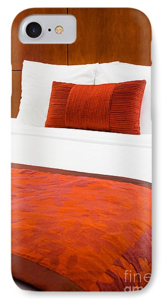 Hotel Room Bed  IPhone Case by Paul Velgos