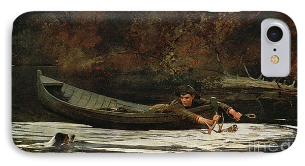 Hound And Hunter IPhone Case by Winslow Homer
