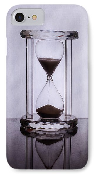 Hourglass - Time Slips Away IPhone Case by Tom Mc Nemar