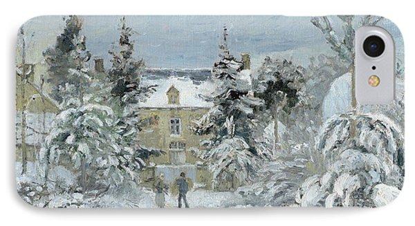 House At Montfoucault Phone Case by Camille Pissarro