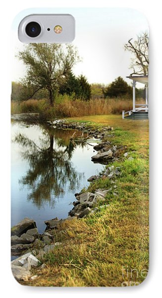 House By The Edge Of The Lake IPhone Case by Jill Battaglia
