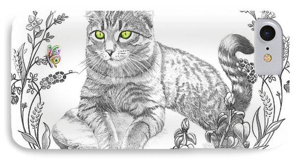 House Cat Phone Case by Murphy Elliott