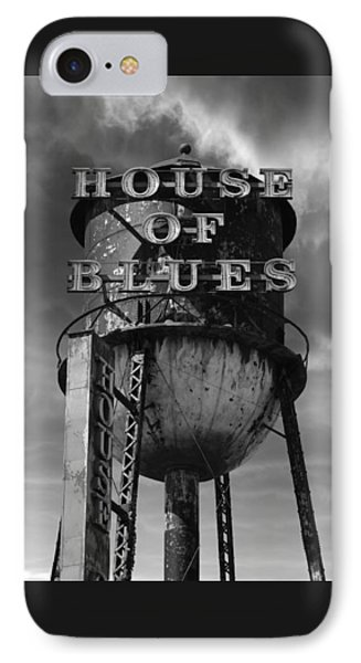 IPhone Case featuring the photograph House Of Blues B/w by Laura Fasulo