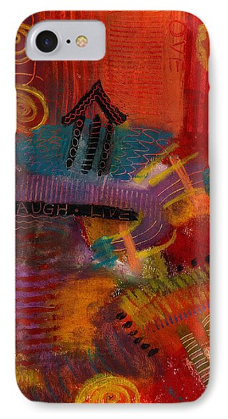 IPhone Case featuring the painting House Of Laughter by Angela L Walker