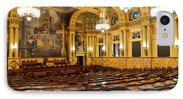 House Of Representatives Chamber In Harrisburg Pa IPhone Case by Olivier Le Queinec