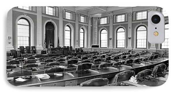House Of Representatives Chamber Of Maine In Augusta IPhone Case by Olivier Le Queinec