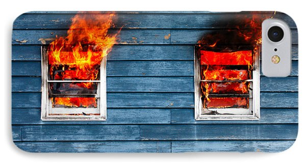 House On Fire IPhone Case by Todd Klassy