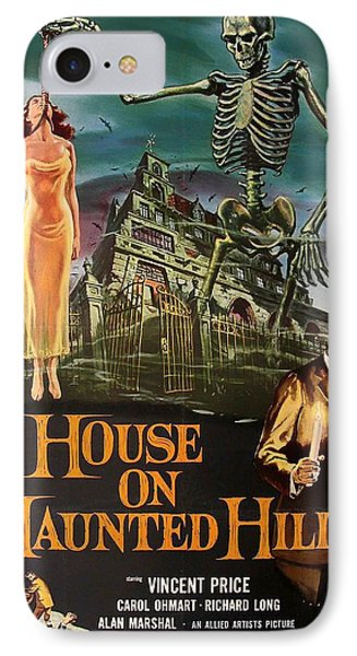 House On Haunted Hill 1958 IPhone Case by Mountain Dreams