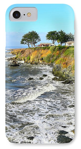 IPhone Case featuring the photograph House On The Point Cayucos California by Barbara Snyder