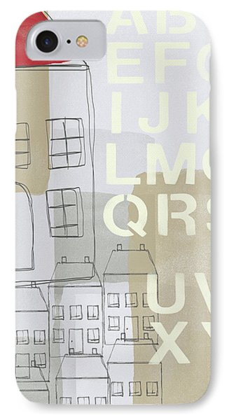 House Plans 2- Art By Linda Woods IPhone Case by Linda Woods