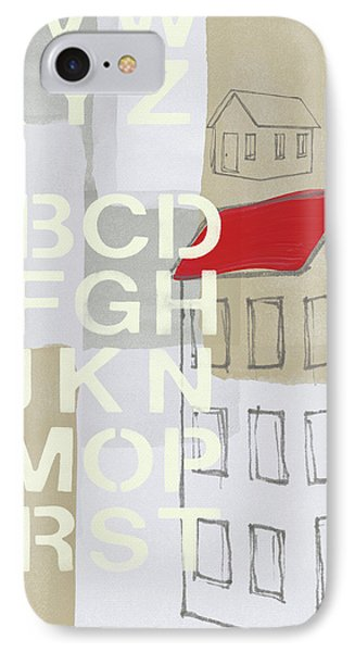 House Plans- Art By Linda Woods IPhone Case by Linda Woods