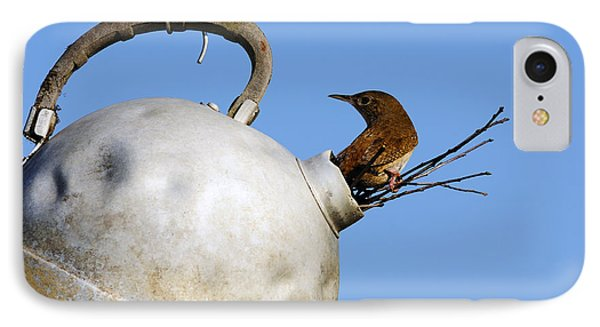 House Wren In New Home IPhone Case by Thomas R Fletcher