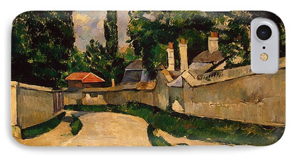 Houses Along A Road Phone Case by Paul Cezanne