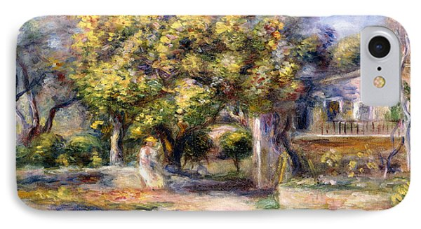 Houses In Cagnes IPhone Case by Pierre Auguste Renoir