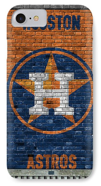 Houston Astros Brick Wall IPhone Case by Joe Hamilton