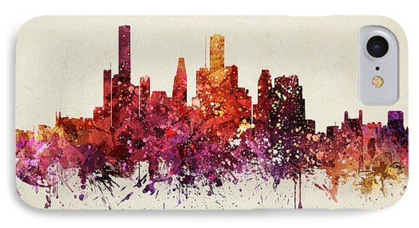Houston Cityscape 09 IPhone Case