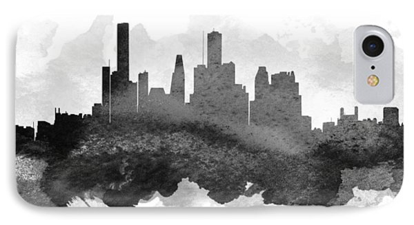 Houston Cityscape 11 IPhone Case by Aged Pixel