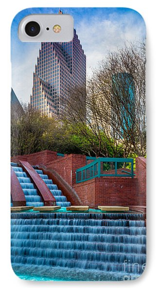Houston Fountain IPhone Case by Inge Johnsson