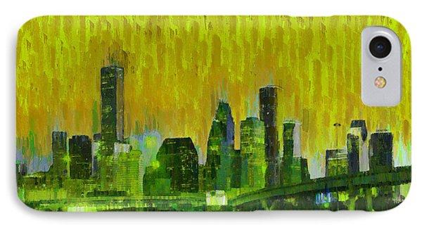 Houston Skyline 92 - Pa IPhone Case