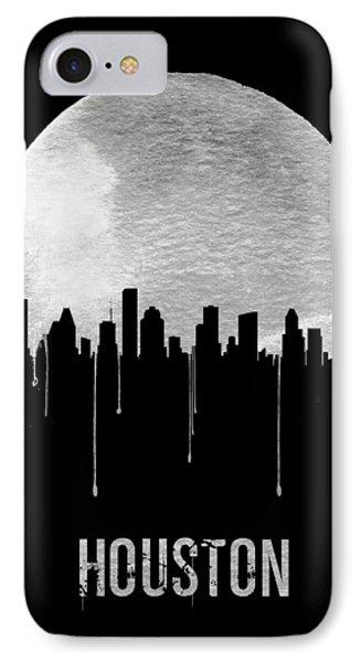 Universities iPhone 7 Case - Houston Skyline Black by Naxart Studio