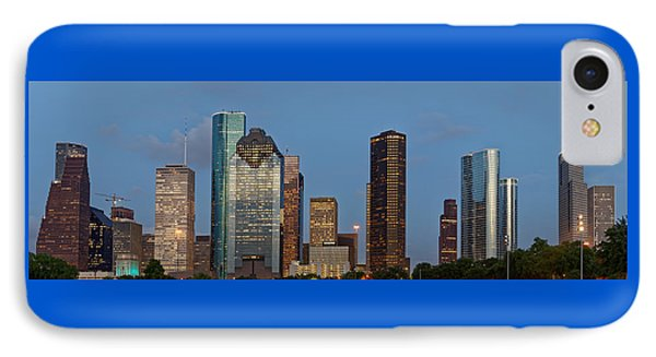 Houston Skyline Panorama IPhone Case by Jonathan Davison