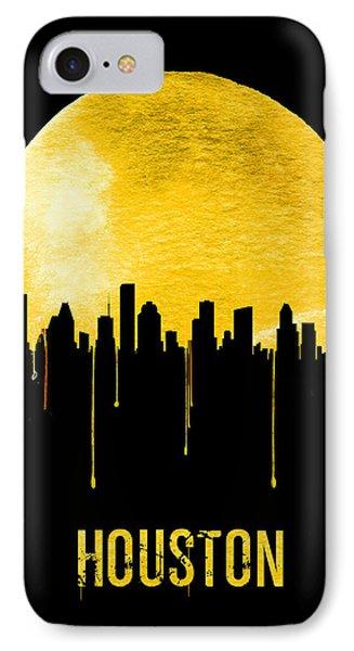 Universities iPhone 7 Case - Houston Skyline Yellow by Naxart Studio