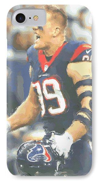 Houston Texans Jj Watt 5 IPhone Case by Joe Hamilton