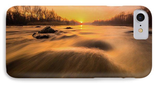 IPhone Case featuring the photograph Hovering Over The River by Davorin Mance