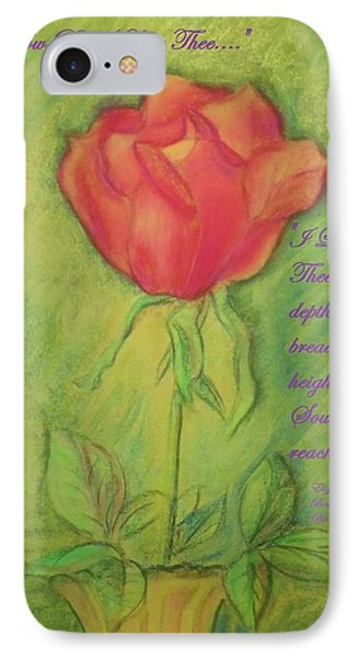 IPhone Case featuring the drawing How Do I Love Thee ? by Denise Fulmer