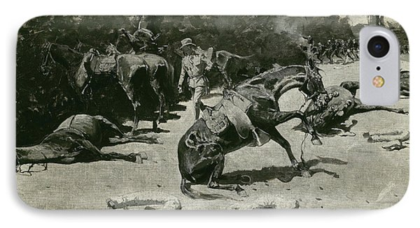 How The Horses Died For Their Country At Santiago, 1899 IPhone Case by Frederic Remington