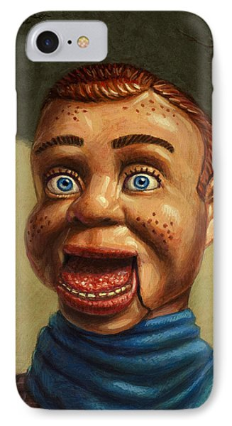 Howdy Doody Dodged A Bullet Phone Case by James W Johnson