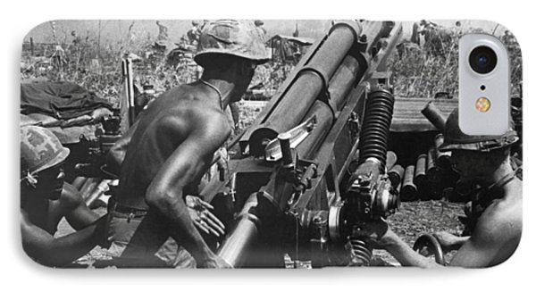 Howitzer Crew In Action IPhone Case by Underwood Archives