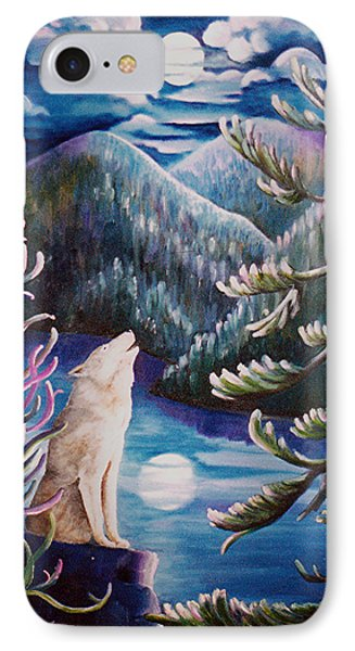 IPhone Case featuring the painting Howlin' The Blues by Renate Nadi Wesley