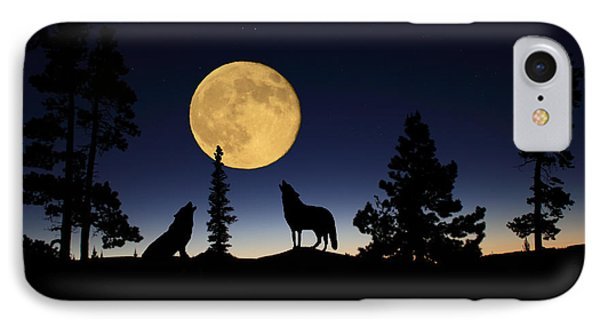Howling At The Moon Phone Case by Shane Bechler