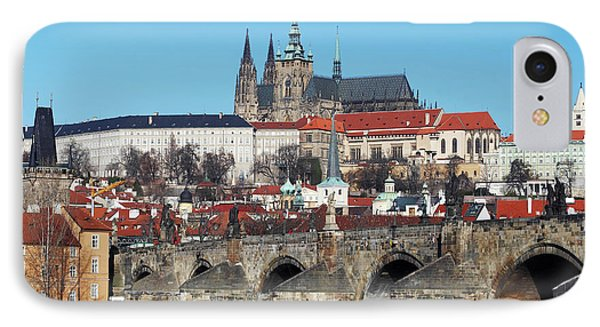 Hradcany - Cathedral Of St Vitus And Charles Bridge Phone Case by Michal Boubin