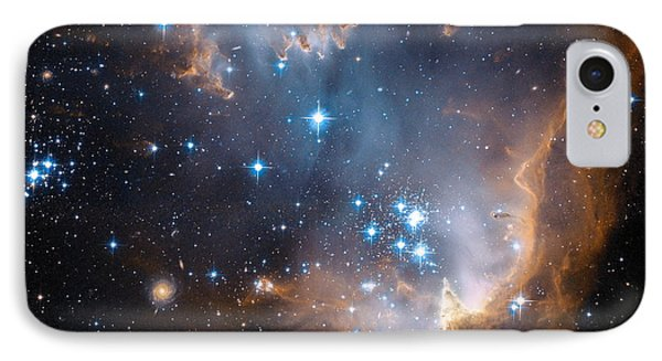 Hubble's View Of N90 Star-forming Region IPhone Case by Nasa