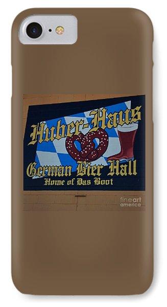 Huber Haus Mural, Omaha IPhone Case by Poet's Eye