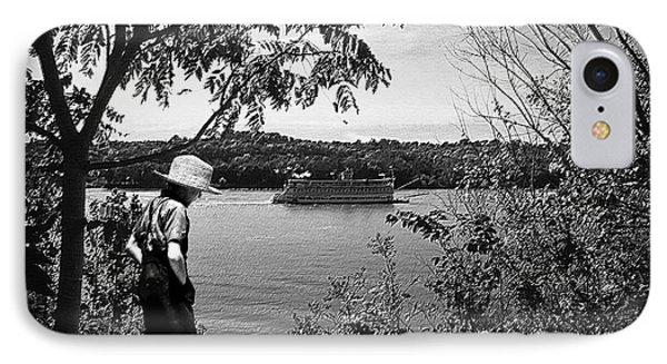 Huck Finn Type Walking On River  IPhone Case