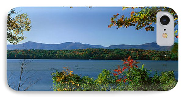 Hudson River In Autumn, Rhinebeck, New IPhone Case by Panoramic Images