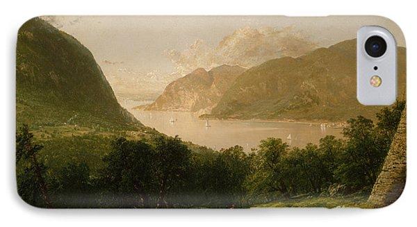 Hudson River Scene, 1857  IPhone Case by John Frederick Kensett