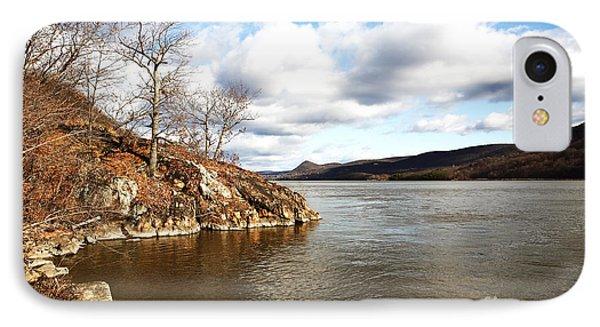 Hudson River View Phone Case by John Rizzuto