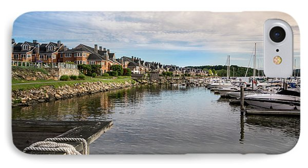 Hudson Valley Dock IPhone Case by Frank Mari