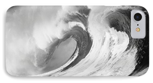Huge Curling Wave - Bw IPhone Case by Ali ONeal - Printscapes