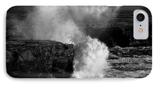 Huge Wave Breaking On The Rocks IPhone Case