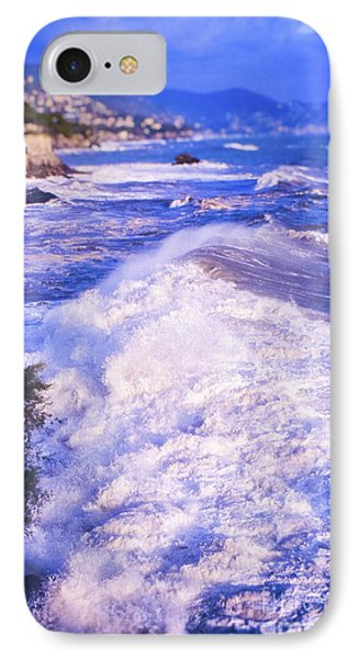 IPhone Case featuring the photograph Huge Wave In Ligurian Sea by Silvia Ganora